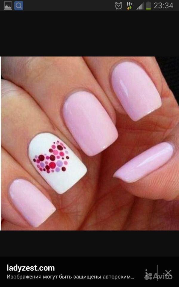 Дизайн для широких ногтей