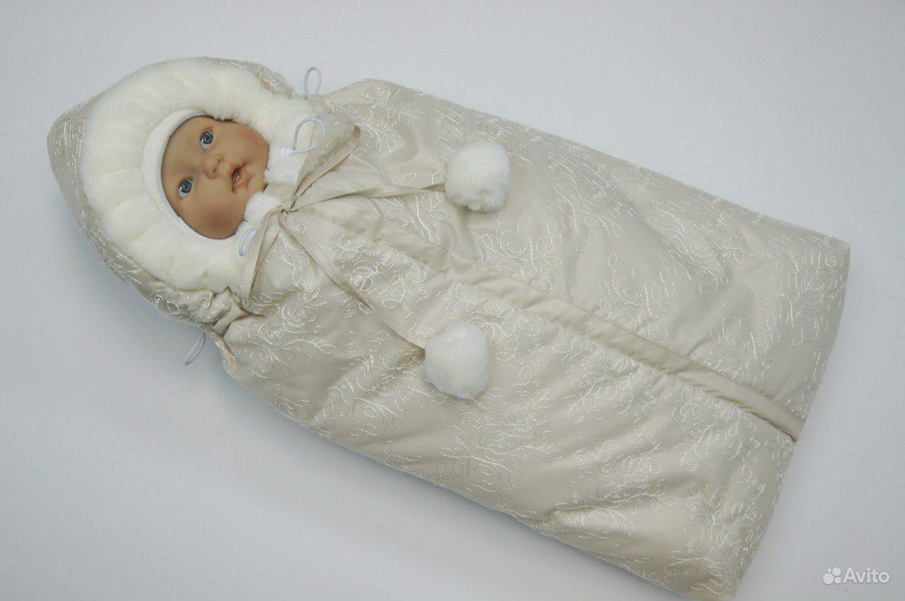 Меховые конверты для новорожденных