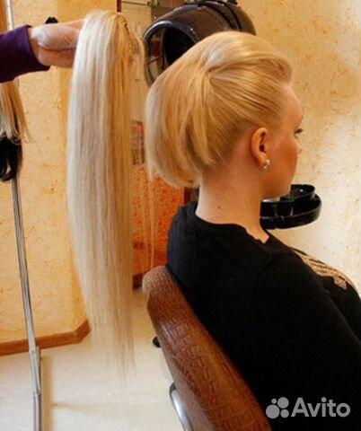 Фото причесок из прямых накладных волос