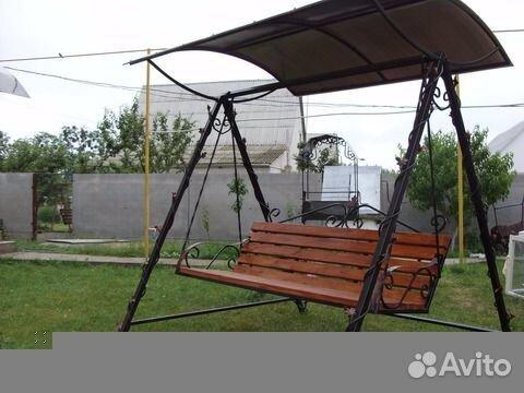 Качели скамейка для дачи фото