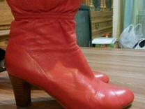 Красные ботиночки натуральная кожа