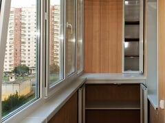 Шкафчики на балконе хрущевки фото.