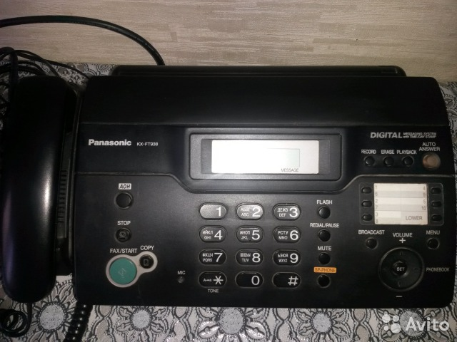 Продам Факс Panasonic KX-FT938(black)— фотография №1