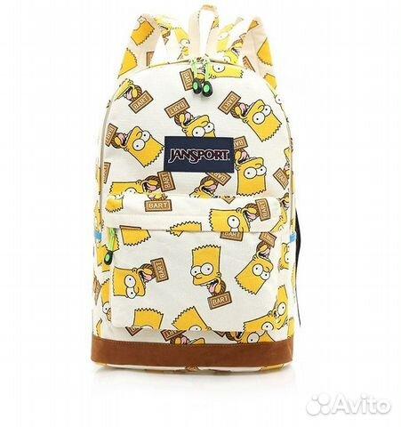 Новый Черный и Белый рюкзак Барт Симпсон   Festima.Ru - Мониторинг ... 6fb6f7252b4