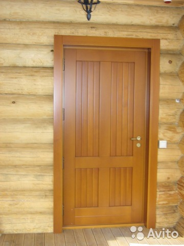 двери входные клееного бруса