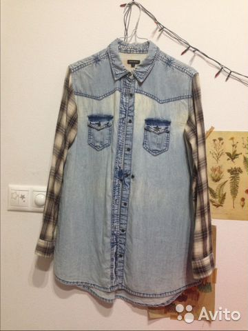 4908811ea2162e7 Рубашка под джинсу рукавами в клетку River Island | Festima.Ru ...