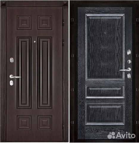 двери входные металлические внутреннее шпон дуба