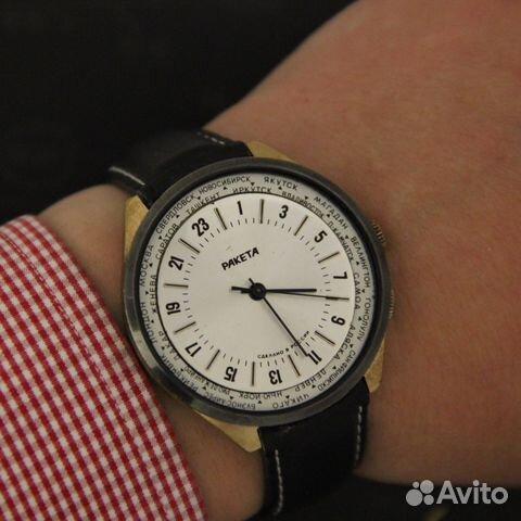 cc138a04711f2 Ракета 24 часа Мировое время механические часы в купить в Москве на ...
