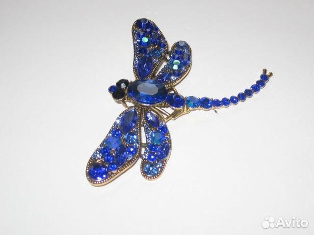 Брошь «Стрекоза» из искусств Ювелирных Кристаллов