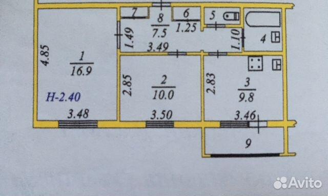 Продается двухкомнатная квартира за 3 800 000 рублей. г Салехард, ул Ямальская, д 15А.