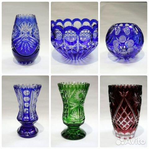 вазы синий хоусталь купитб в спб