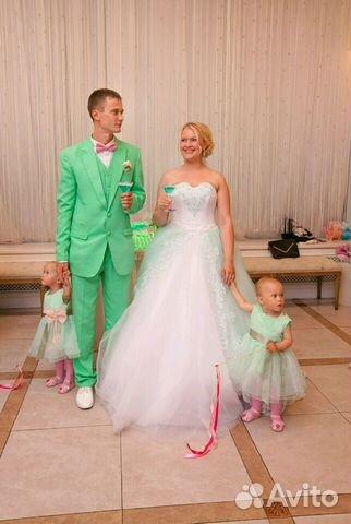 a474f72e904 Мужской свадебный костюм мятного зелёного цвета(тр купить в Санкт ...