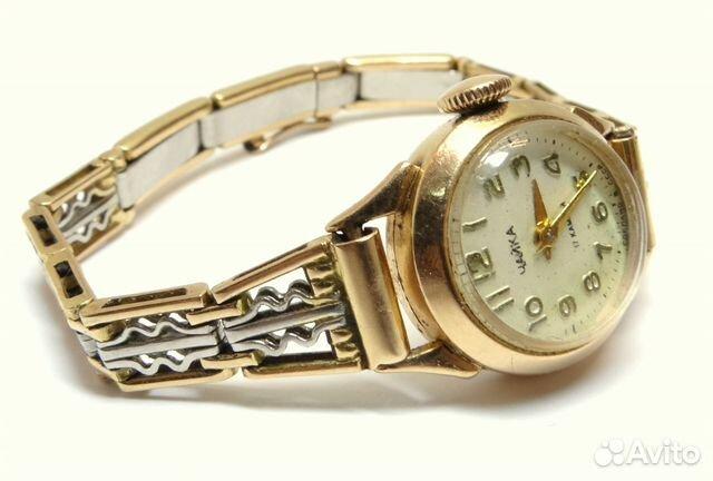 Советские женские золотые часы Чайка на браслете купить в ...