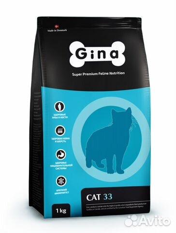 Корм Gina Cat-33 для активных кошек