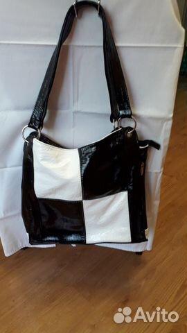 596b542017d7 Черно-белая женская сумка купить в Саратовской области на Avito ...