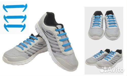 Силиконовые шнурки голубые 16 шт  36e583c9d8e5b