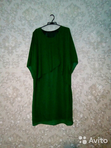 Платье веречнее шифоновое Изумруд