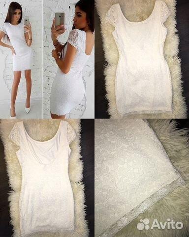 1a2d275756a Белое мини сексуальное платье s до 1 6 0
