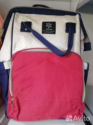 2054e5151475 Сумка рюкзак для мамы и малыша, белая с красным купить в Самарской ...