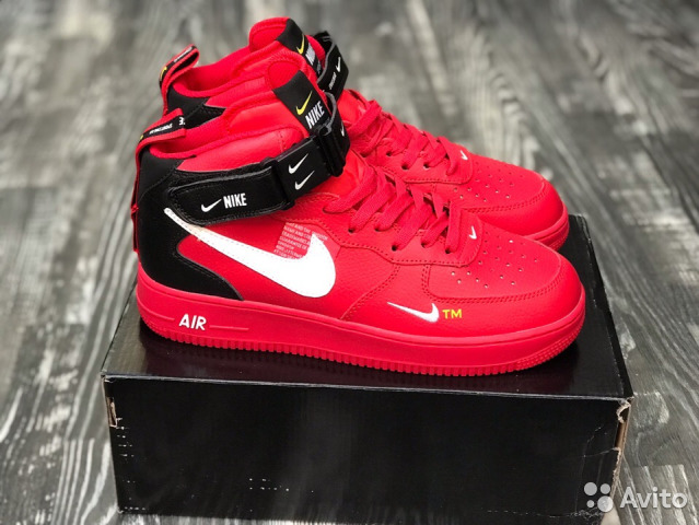 aa12b560 Nike Air Force 1 07 Mid LV8 Red (Все размеры) купить в Москве на ...