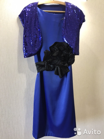 Платье новое с поясом-бант и болеро 89628553030 купить 1