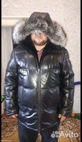 Кожаная куртка с натуральной черно 89513830222 купить 1
