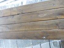 Стол и скамья из дубовой доски на 150 см