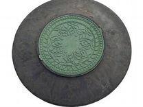 Конус с люком для колодца LKZ 1050 (зеленый) 3 тон