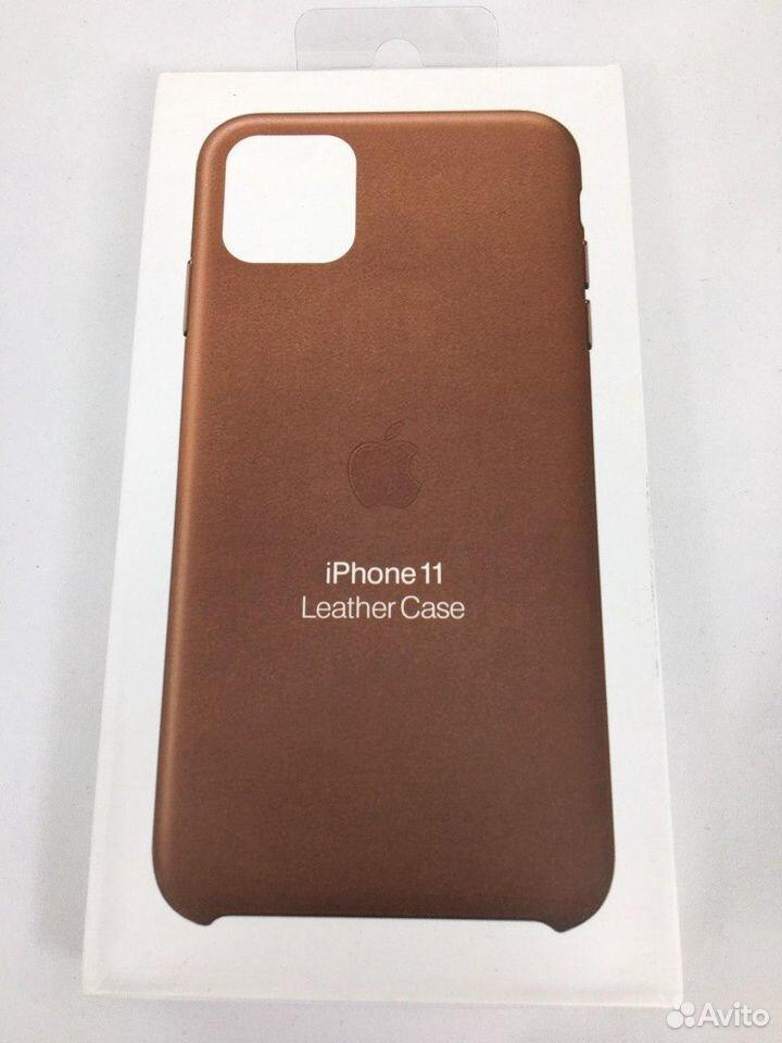 Кожаный чехол Leather Case Apple iPhone 11 Brown  89112002770 купить 1