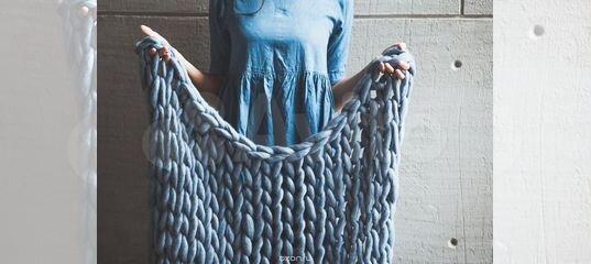 толстая пряжа для вязания пледа купить в москве на Avito