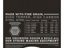 Комплект струн D'Addario ECG23 Chromes Flat Wound