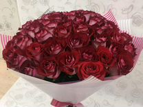 Цветы, Роза 101 50см, доставка по городу