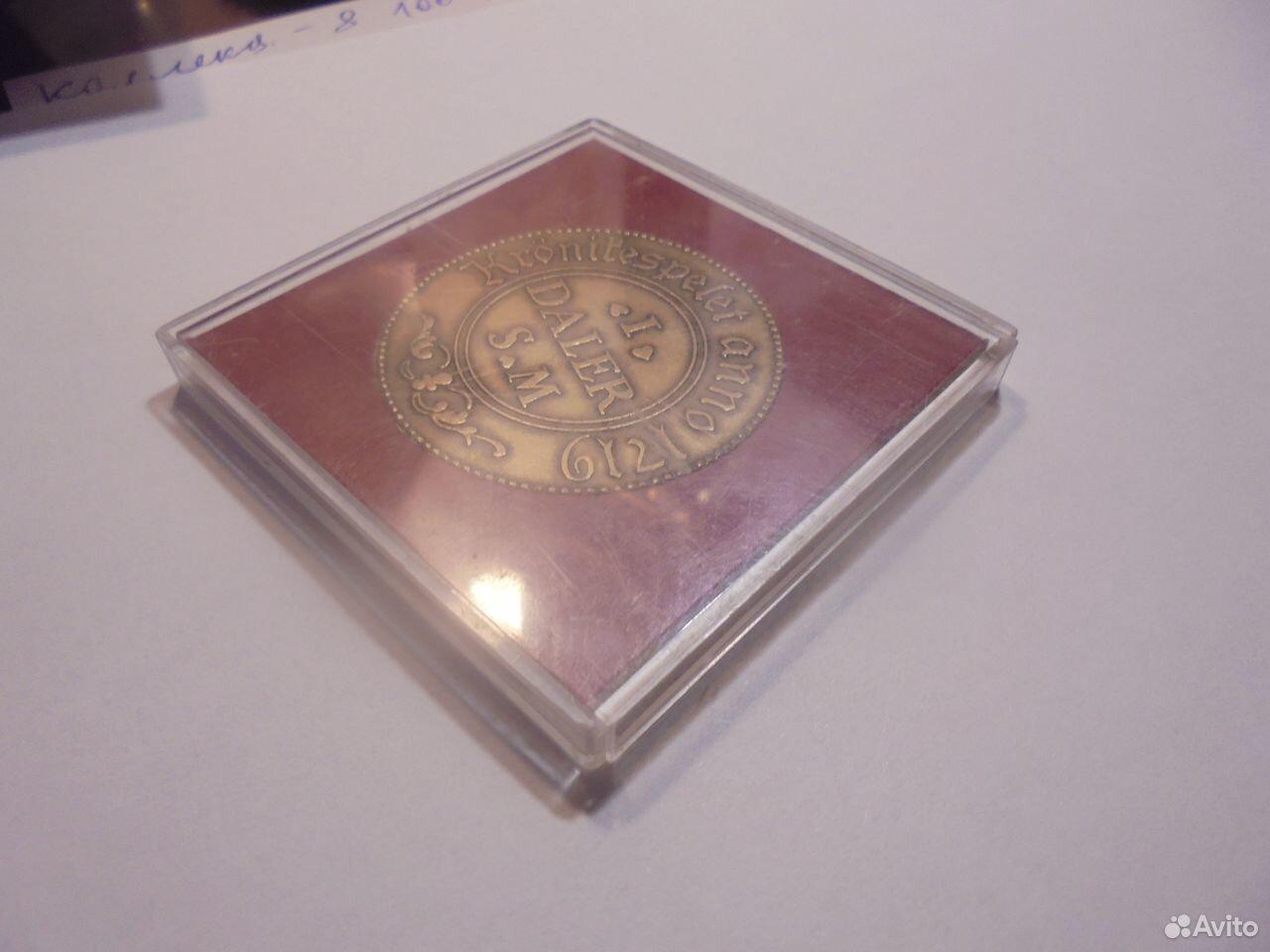 Швеция медный жетон 1 далер 1719 года  89105009779 купить 3