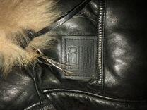 Кожаный пуховик от известнейшего бренда dsquared2