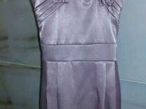 Платье атласное 110-116